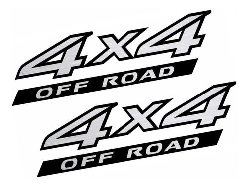Emblema Adesivo 4x4 Nissan Frontier Off Road 2008 Par