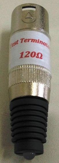 Kit Com 5 Dmx Terminadores Terminal Com Led Conector Xlr 120