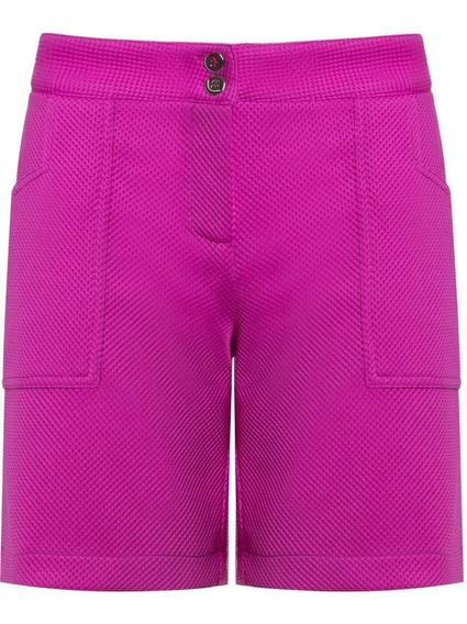 Shorts Bermuda Em Tecido Feminino Social Seiki Até 44