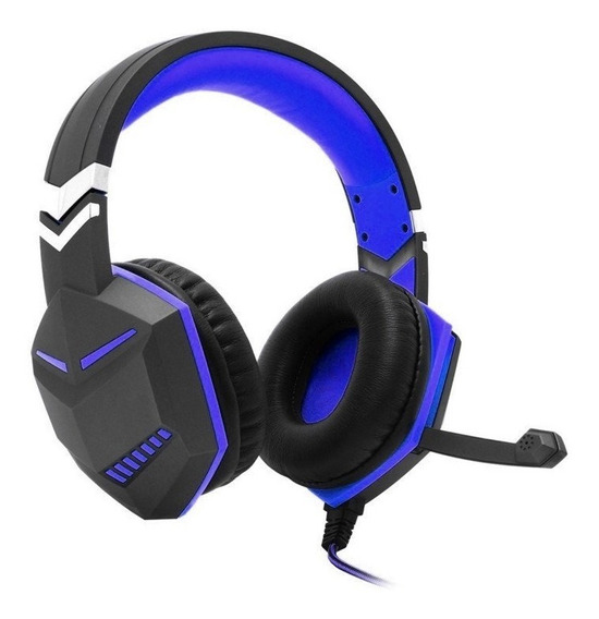 Headset Gamer Ps4 Xbox One Over Ear Fio Microfone P3 Azul