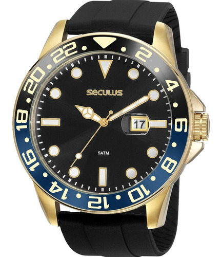 Relógio Masculino Seculus 2 Anos De Garantia 20902gpsvdu1