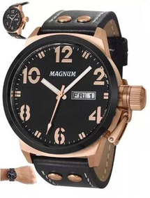Relógio Masculino Pulseira D Couro Magnum Ma32783p- Original