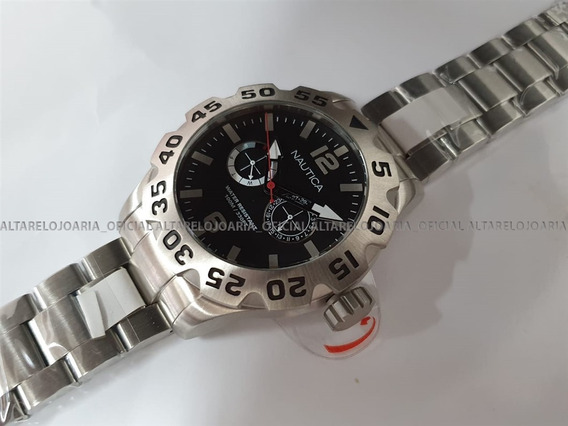Relógio Nautica Cronografo A20098g Aço Inox Cronografo