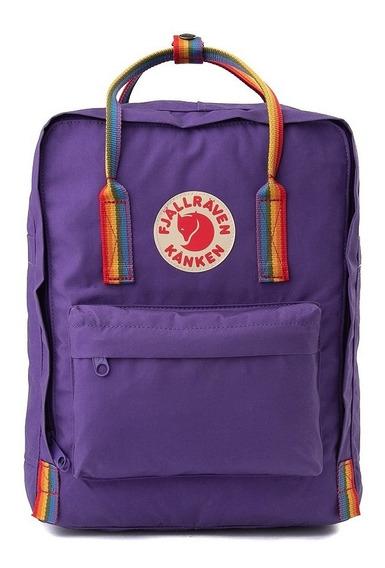 Mochila Fjallraven Kanken Backpack Grande Arcoiris Original