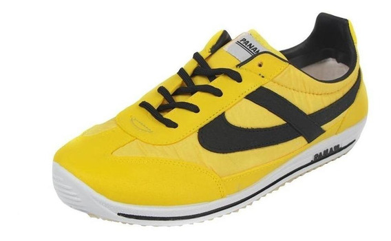 Tenis Hombre Caballero Panam 084 Clásico Amarillo Casual