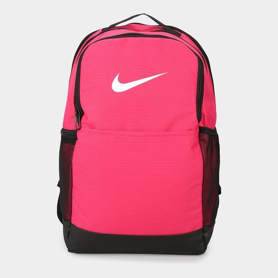 Mochila Nike Brasilia Medium 24 L. Color Rosa Fluo! Nueva.