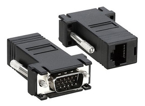 Par De Adaptador Extensor Vga Video Via Cabo Rede Rj45