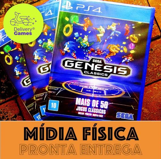 Sega Genesis Classic Ps4 Lacrado Mídia Física (com Poster)