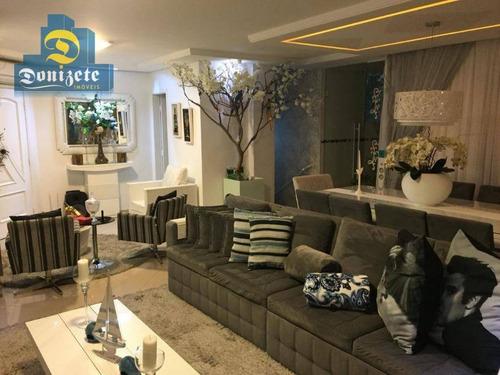 Cobertura Com 4 Dormitórios À Venda, 244 M² Por R$ 2.300.000,00 - Vila Guilhermina - Praia Grande/sp - Co1628