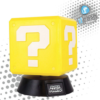 Super Mario Mini Question Block Light Lampara Nintendo