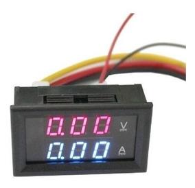 Voltimetro Amperimetro 0 100v 10a Dual Led Display Favix Dc
