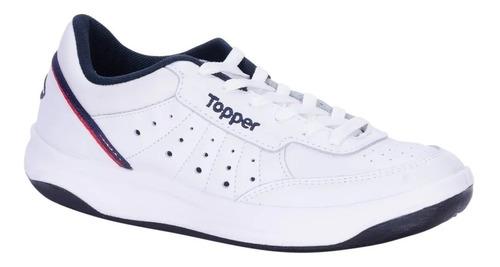 Imagen 1 de 5 de Zapatillas Topper X Forcer Adulto Tenis 100% Cuero Flor