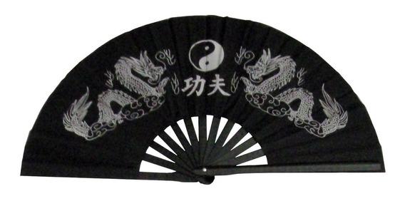 Abanico Modelo Tai Chi, Varillas Pvc, Estampado A Un Color