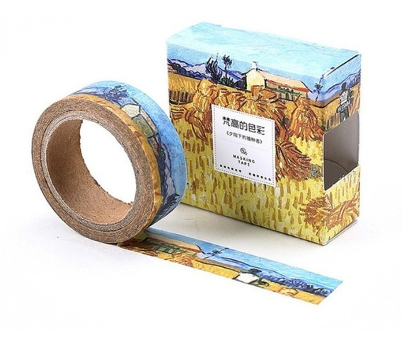 Washi Tape - Estampa Obras Van Gogh - 15mm X 7m