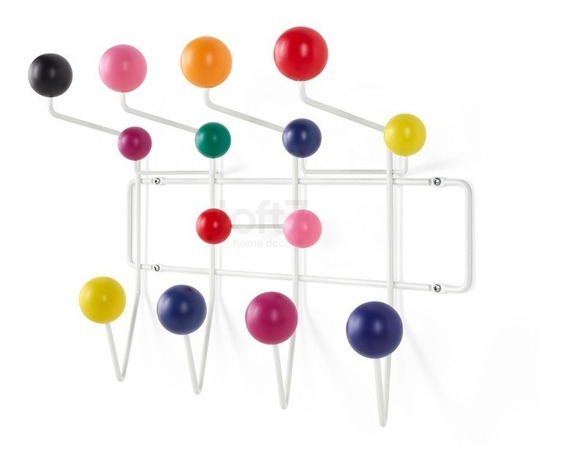 Cabideiro Eames Hang It All Design Branco Colorido