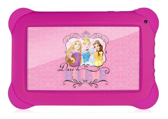 Novo Tablet Infantil Multilaser Das Princesas Da Disney Rosa