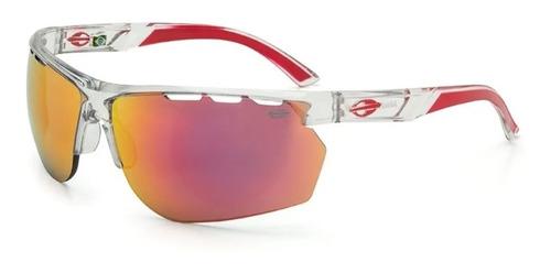 Óculos Mormaii Thunder Translúcido Vermelho