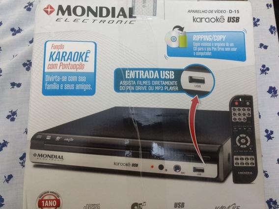 Aparelho De Dvd Player Mondial /usb/karaokê/novo/original