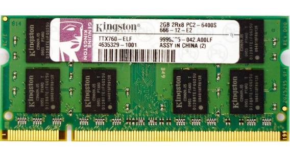 Memoria Ram So Dimm De Laptop 2 Gb Ddr2 667 Y 800 Mhz