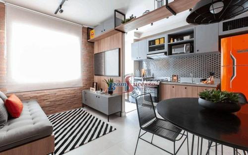 Imagem 1 de 26 de Apartamento Com 1 Dormitório À Venda, 30 M² Por R$ 169.500,00 - Mooca - São Paulo/sp - Ap2969