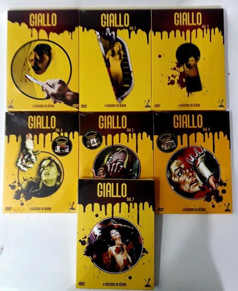 Giallo Volumes 1 2 3 4 5 6 7 - 7 Boxes Originais Lacrados