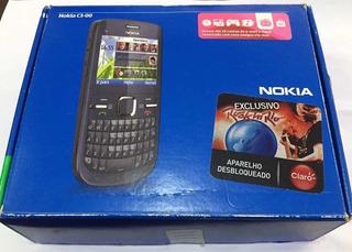 Nokia C3 00 Com Defeito Caixa Carregadores E Fone!