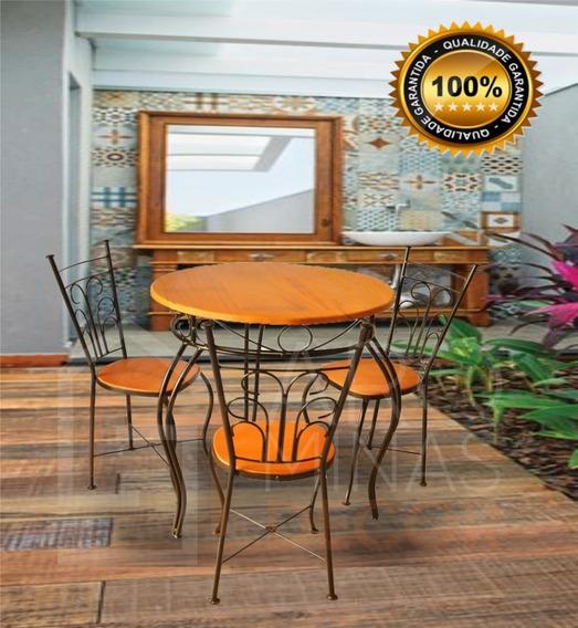 Mesa Rustica Com 3 Cadeiras- Super Oferta