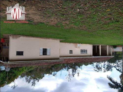 Ótima Chácara Com 03 Dormitórios, Rio, Pomar, Fácil Acesso, À Venda, 3000 M² Por R$ 400.000 - Rural - Socorro/sp - Ch0791