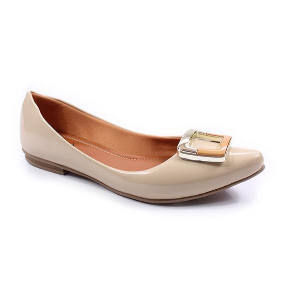 Sapatilha Bico Fino Thamy Shoes Feminina Verniz Salto Baixo