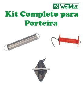 Kit Completo Porteira Para Cerca Elétrica Rural Walmur
