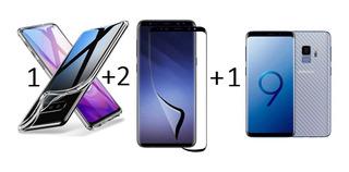 Capa S10 S9 S8 Note 10 9 + 2 Películas Nano Premium + Fibra