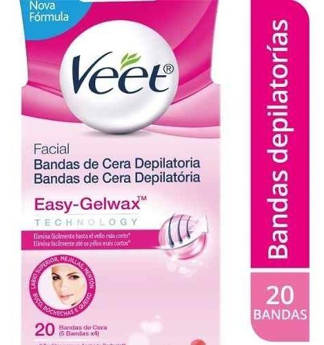 Veet Bandas De Cera Fria Facial Piel Normal X 20