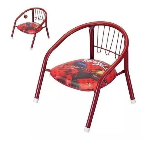 Cadeira Lady Bug Infantil Metal Apito Assento - Perfeito!