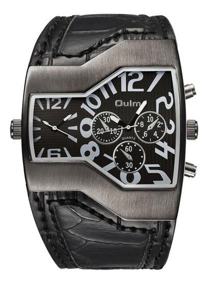 Relógio Masculino Pulso Oulm 1120 - 2 Analógico - Preto