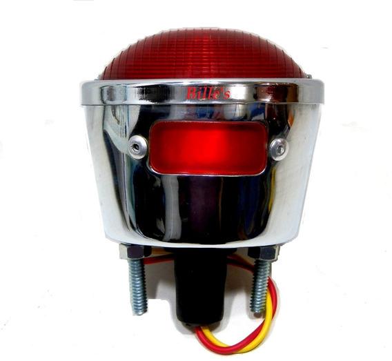 Lanterna Do Jeep Wilis Moto Antiga Cafe Race Metal Cromado