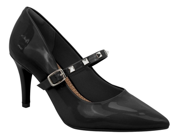 Sapato Scarpin Via Marte 18-5902 Feminino Vermelho/preto