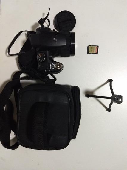 Câmera Fujifilm Finepix S4000 + Tripé + Bolsa