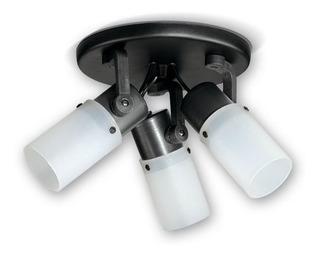 Aplique Techo Polipropileno 3 Luces Blanco Negro Led E27