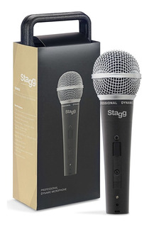 Micrófono Dinámico Stagg + Cables + Estuche Sdm50 Envio