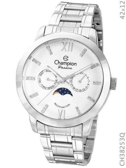 Relógio Champion Feminino Prata Ch38253q