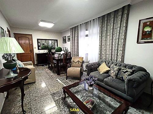 Apartamento Com 3 Dormitórios À Venda, 117 M²  - Embaré - Santos/sp - Ap2069