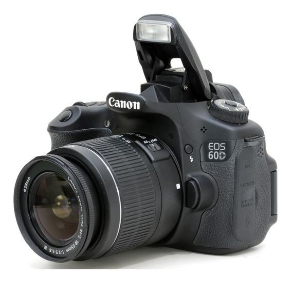 Canon 60d + 18-55mm + Cartão 32gb Zerada !!! 2871472798
