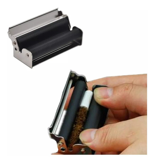 Bolador De Cigarro De Metal Discreto 70mm Enrolar Erva Fumo
