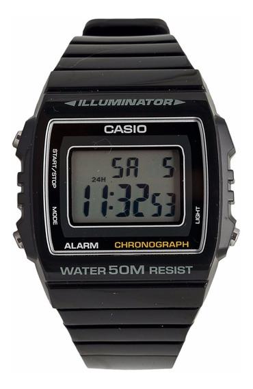 Relógio Digital Casio Preto Digital Calendário W-215h-1avdf