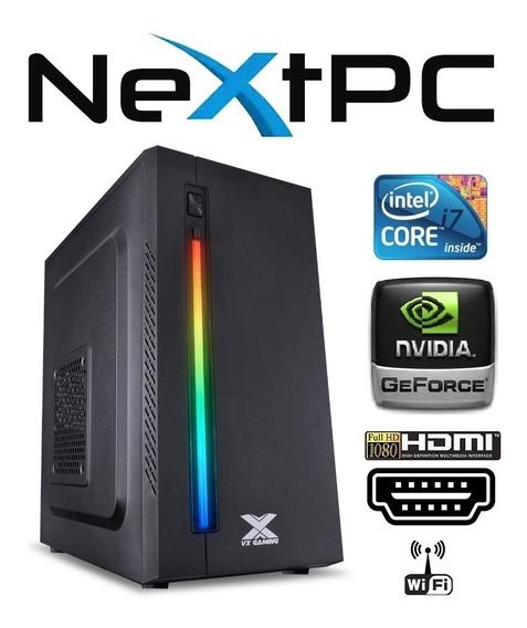 Pc Gamer Core I7 8gb Memória Ssd 120gb Gtx 1050ti 4gb