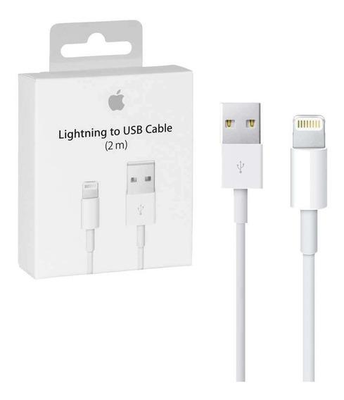 Cable Original 2m Cargador iPhone 5 6 7 X Xs Lightning