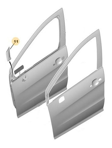 Imagen 1 de 3 de Embellecedor Derecho Peugeot 308 1.6 Hdi 16v