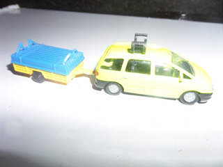 Miniatura Carrinho Ford Galaxi-carretinha-retrô-marca Siku