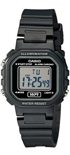 Reloj Clásico De Resina Negra Digital La20wh-1acf De Casio P