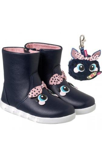 Bota Infantil Pampili Sneaker Luz Youtuber Dot Azul Noite